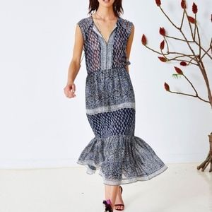 ULLA JOHNSON Silk Georgette Tropez Paisley Dress